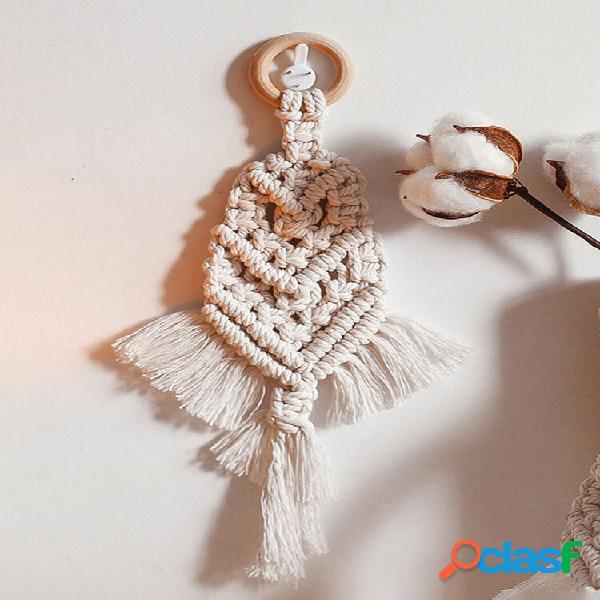 1 pc nordic macrame pendurado na parede tapeçaria decoração bohemian tassel chic algodão decoração para casa decoração d