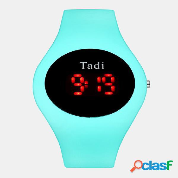 Esporte casual homens mulher led eletrônico watch silicone banda luminoso sensor à prova d 'água digital watch