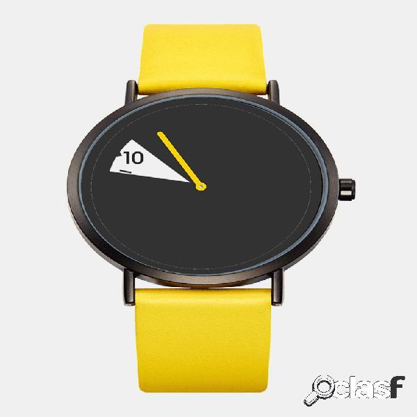 Estilo casual quartz watch criativo dial moda feminina couro à prova d 'água banda quartzo watch
