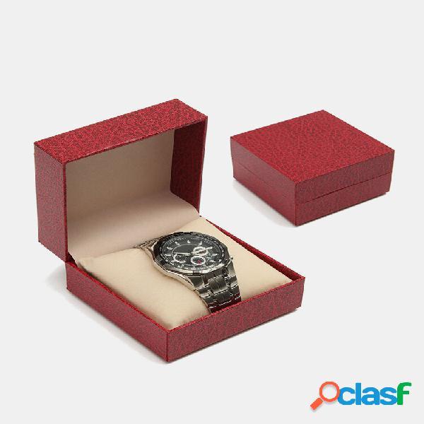 Relógio caso red velvet padrão relógio caixa