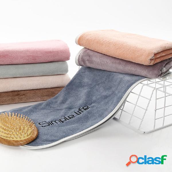 Absorvente de microfibra toalha soft praia chuveiro toalha soft adulto banheiro face de secagem rápida toalha