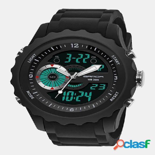 Casual impermeável digital esporte watch quartz wrist watch luminoso watch para homens