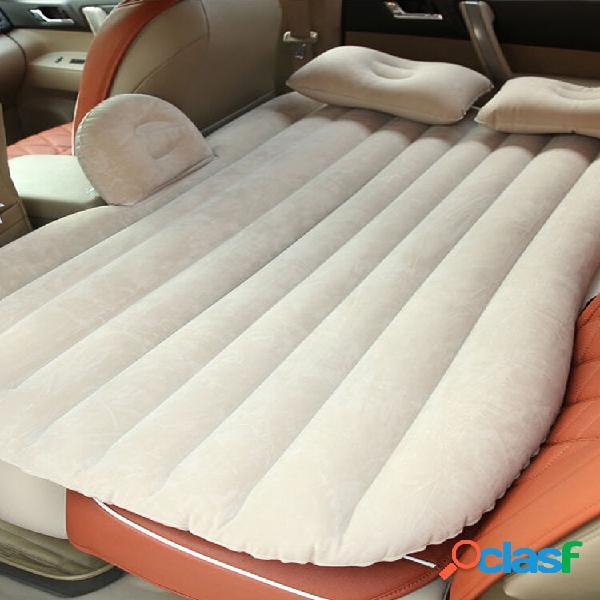 Carro inflável suv mpv banco traseiro colchão dobrável cama descanso dormir acampamento + travesseiros