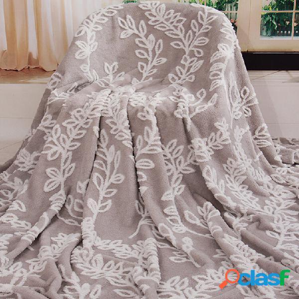 Cobertor catiônico de lã de cordeiro jacquard para almoço cobertor de sofá com ar condicionado