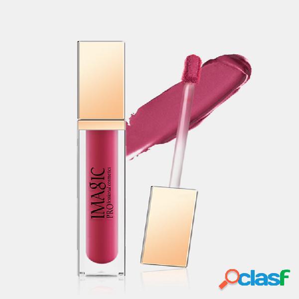 Brilho labial fosco 20 cores de longa duração antiaderente copo antiaderente esmalte brilhante