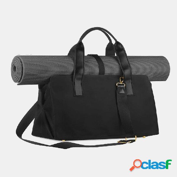 Bolsa feminina preta nylon grande capacidade academia bolsa executiva bolsa yoga bolsa de mão bolsa bolsa crossbody bols