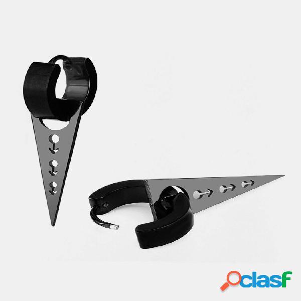 Punk 1pc orelha gota orelha anel triângulo oco redondo geométrico gota moda jóias para homens