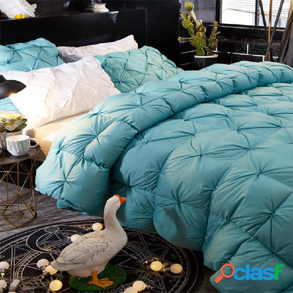 Edredom de penas de ganso branco grande edredom cobertor de inverno cama king size completa