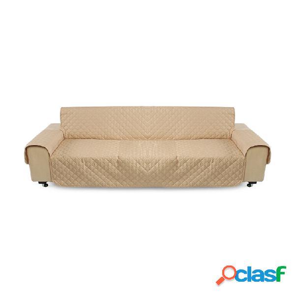 Almofada de capa protetora de sofá cáqui para animais de estimação removível com alça à prova d'água para 3 lugares
