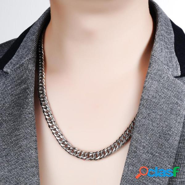 Moda 3mm cadeia mens colares de aço inoxidável colares declaração único cadeia