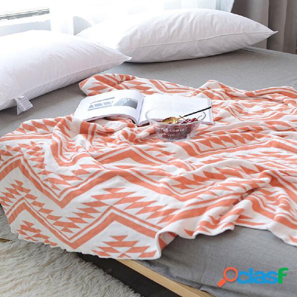Cobertor de algodão colorful triangle knitted throw kids autumn spring soft cobertor de dormir cobertor de sofá cobertor
