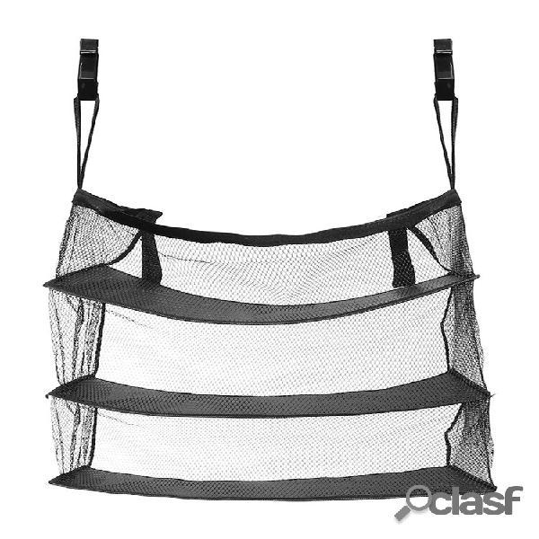 Armazenamento portátil de viagem de 3 camadas bolsa gancho malha nylon pendurada bolsa armazenamento + gancho