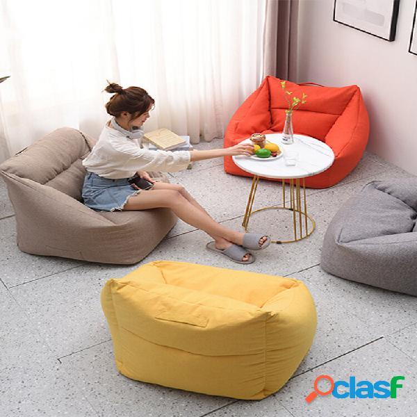 Grande feijão quadrado cor sólida bolsa cobre feijão amarelo cadeira bolsa com bolso para casa de adultos