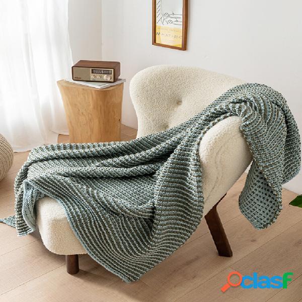 Cobertor waffle de malha autumn spring soft cobertor de dormir cobertor de sofá cobertor de joelho