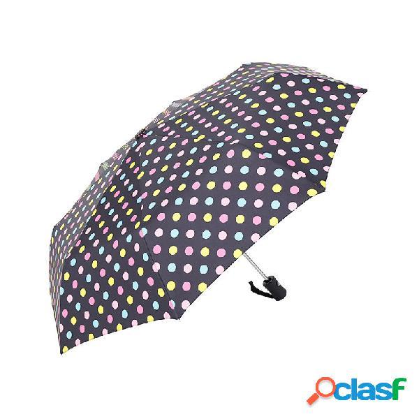 Automatic windproof folding umbrella homens mulheres 8 ribs guarda-chuvas travel lightweight rain gear