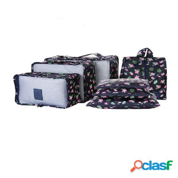 Saiclehome 7 peças saco portátil impermeável de armazenamento para viagem