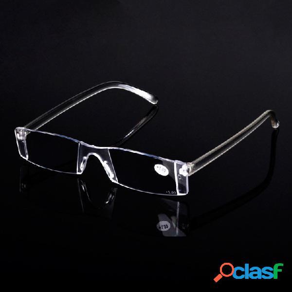 Óculos de leitura sem lentes portáteis leve óculos flexíveis de presbiopia lente de resina ultra leve