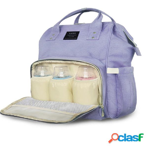 Mochila de grife para fraldas de bebê de grande capacidade para troca de fraldas bolsa organizador de mães para bebês
