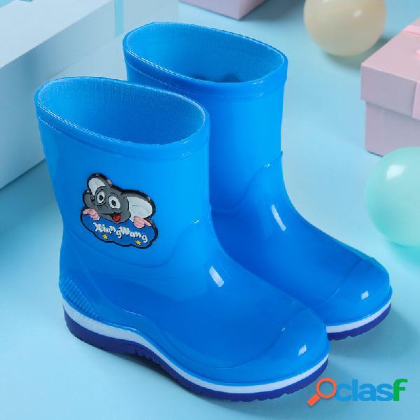 Unissexo infantil impermeável confortável soft sola antiderrapante pvc fácil de botas de chuva