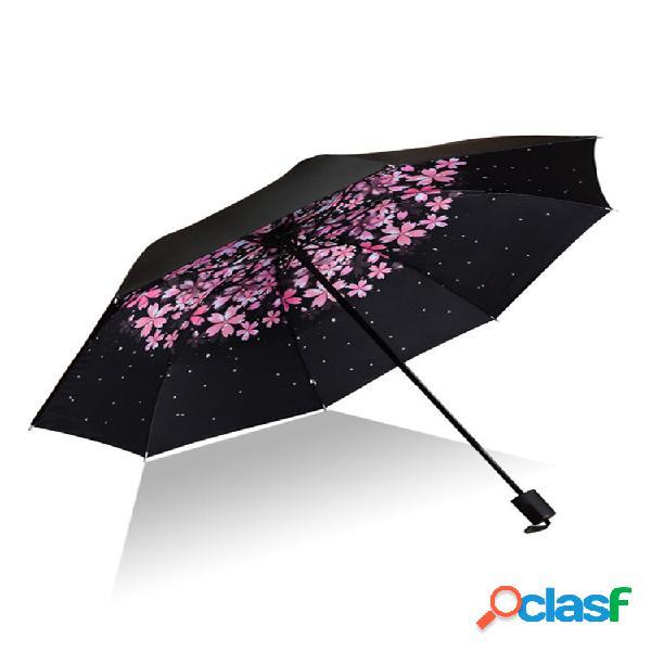 Guarda-chuva de proteção creative uv guarda-chuva de proteção solar tripla