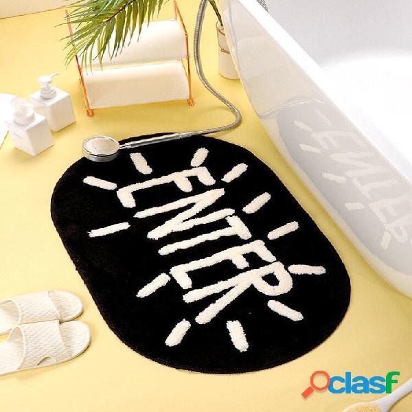 Tapete de banho doméstico antiderrapante banheiro tapete soft tapete de lã de cordeiro tapete de decoração de banheiro t
