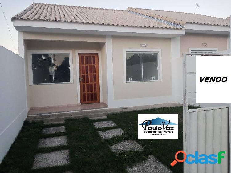 Vendo casa araruama rj bairro 3 vendas 2 quartos garagem #vdcs356