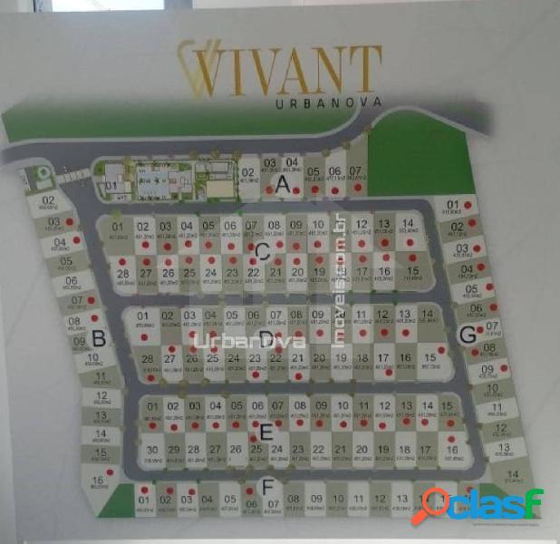 Vende terreno condomínio vivant 451m² - urbanova são josé dos campos, sp.