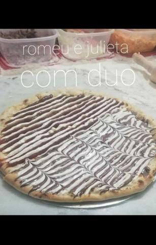 Pizza com borda+refrigerante