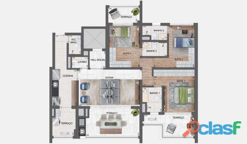 Luxuoso Apartamentos Alto padrão Em Obra,Com 163 M² No Haute Ibirapuera 3
