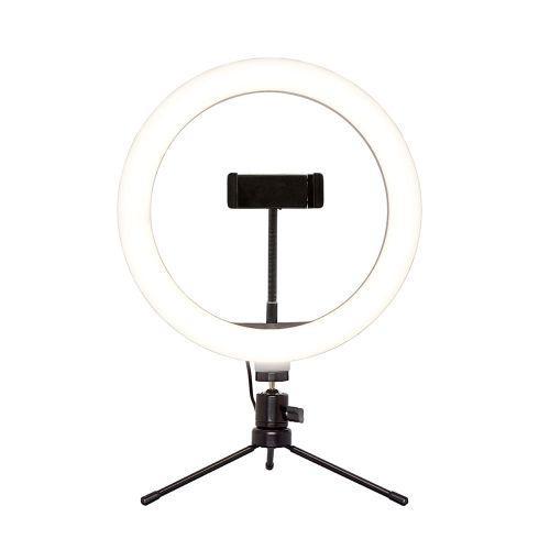 Suporte tipo ring light livestream 10 pol. com trip/u00e9