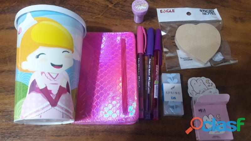 kit escolar menininha