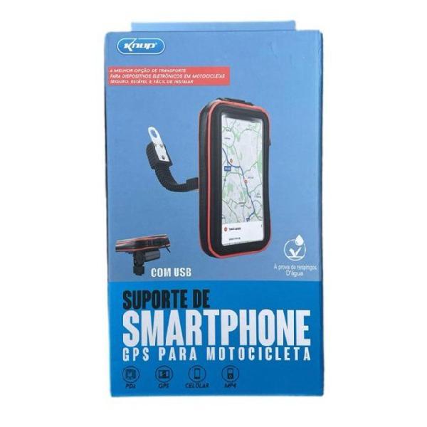 Suporte celular case permeável carrega smartphone usb moto