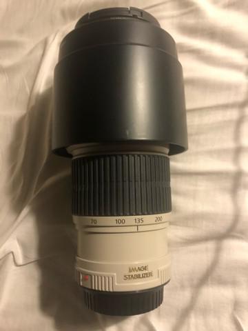 Lente canon serie l 70-200 f/4 is