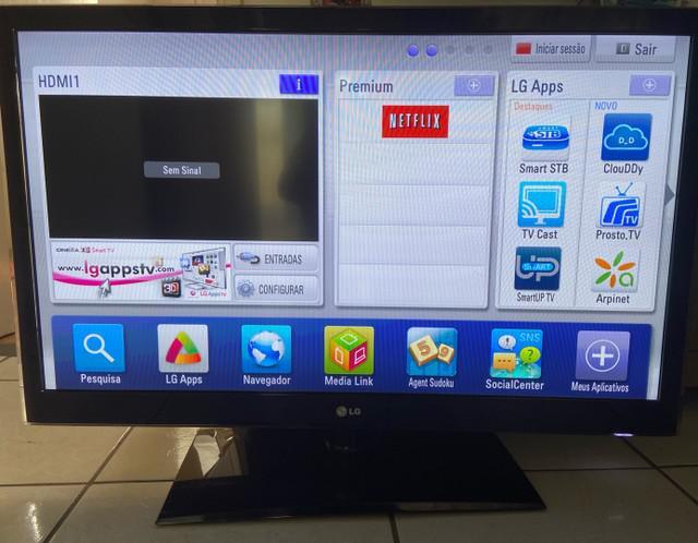 Tv 42 led lg (com detalhe)