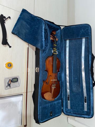 Violino eagle ve144 4/4 estojo arco breu espaleira estojo -