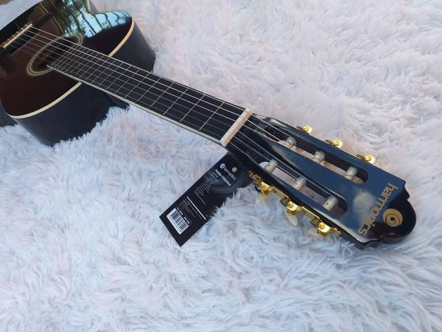 Violão acústico iniciante nylon harmonics preto