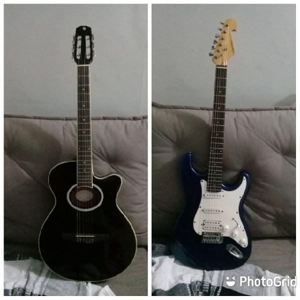 Violão elétrico acústico+guitarra...