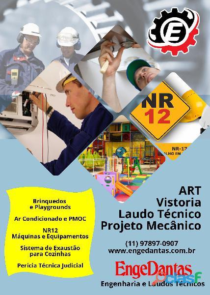 Projeto, laudo técnico, art engenheiro mecânico em brasil