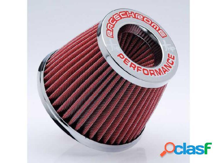Filtro de ar performance duplo fluxo médio vermelho