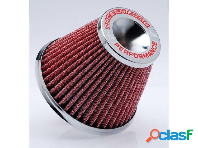 Filtro de ar performance mono fluxo médio vermelho