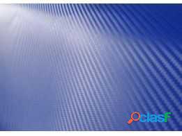 Adesivo fibra de carbono azul np 30cm x 45,5cm