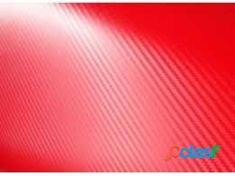 Adesivo fibra de carbono vermelho np 30cm x 45,5cm