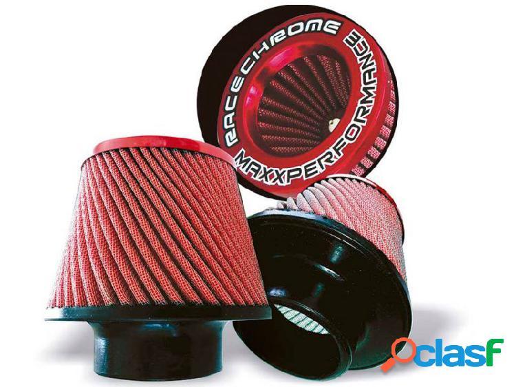 Filtro ar race chrome cônico duplo fluxo grande twister vermelho