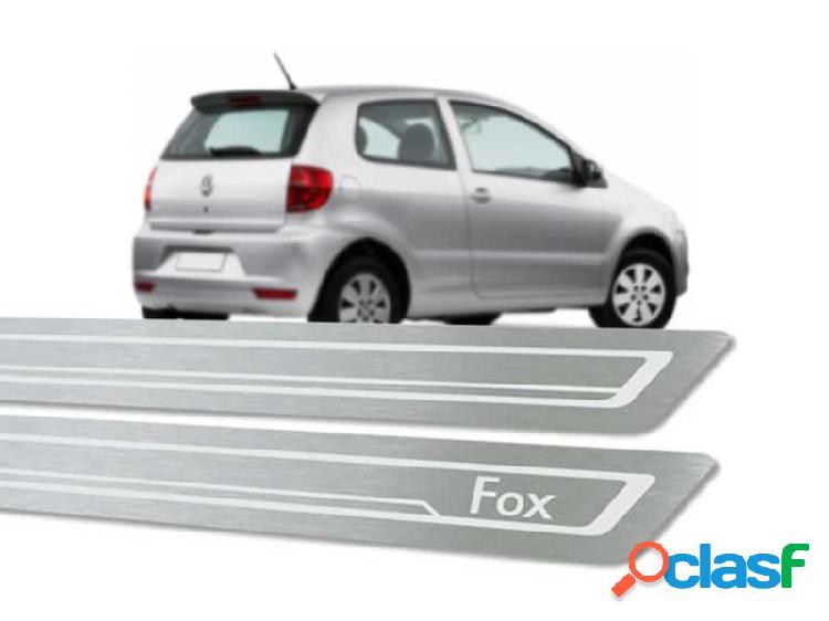 Soleira de porta volkswagen fox 2p em aço inox escovado – modelo standard