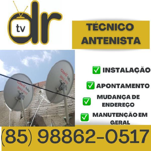 Antenista: instalação de antenas parabólicas em geral