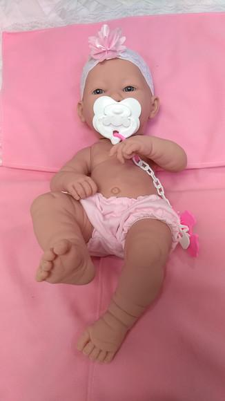 Boneca bebê reborn menina - pronta entrega