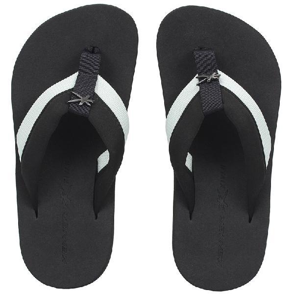 Chinelo kenner kivah cover highlight branco e preto - surf