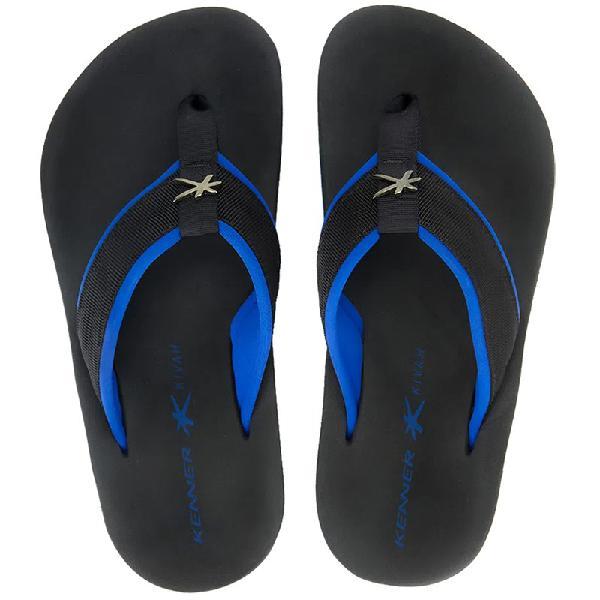 Chinelo kenner kivah cushy azul e preto - surf alive