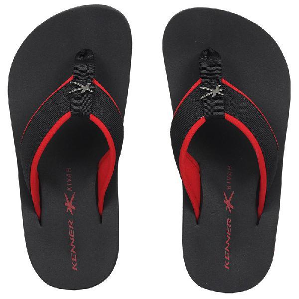 Chinelo kenner kivah cushy vermelho e preto - surf alive
