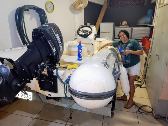 Flex boat zefir com carreta rodoviária r$ 17,300